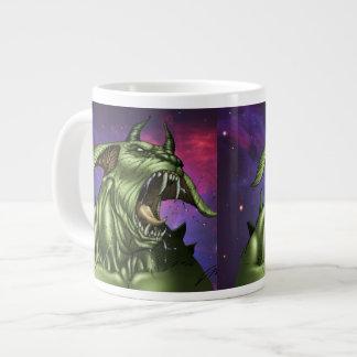 Alien Dog Monster Warrior by Al Rio Large Coffee Mug
