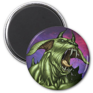 Alien Dog Monster Warrior by Al Rio Refrigerator Magnets