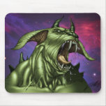 Alien Dog Monster Warrior by Al Rio Mouse Pad