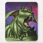 Alien Dog Monster Warrior by Al Rio Mousepads