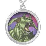 Alien Dog Monster Warrior by Al Rio Necklaces