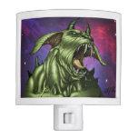 Alien Dog Monster Warrior by Al Rio Night Lights
