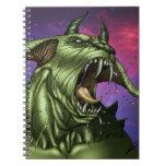 Alien Dog Monster Warrior by Al Rio Notebooks
