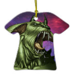 Alien Dog Monster Warrior by Al Rio Christmas Ornament