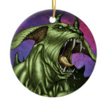 Alien Dog Monster Warrior by Al Rio Christmas Ornaments