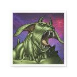 Alien Dog Monster Warrior by Al Rio Paper Napkin