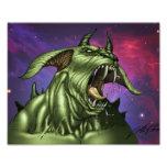 Alien Dog Monster Warrior by Al Rio Photo Print