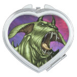Alien Dog Monster Warrior by Al Rio Compact Mirrors