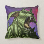 Alien Dog Monster Warrior by Al Rio Pillows