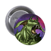 alien, aliens, dog, monster, warrior, invader, outer space, al rio, comic art, illustration, drawing, ufo, Button with custom graphic design