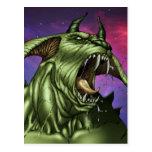Alien Dog Monster Warrior by Al Rio Postcards