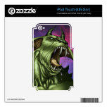 Alien Dog Monster Warrior by Al Rio Decal For iPod Touch 4G