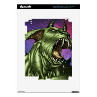 Alien Dog Monster Warrior by Al Rio Skins For iPad 3