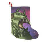 Alien Dog Monster Warrior by Al Rio Small Christmas Stocking
