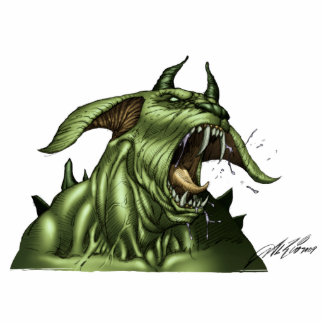 Alien Dog Monster Warrior by Al Rio Statuette