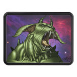 Alien Dog Monster Warrior by Al Rio Tow Hitch Cover