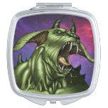 Alien Dog Monster Warrior by Al Rio Travel Mirror