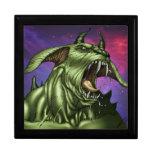 Alien Dog Monster Warrior by Al Rio Trinket Boxes