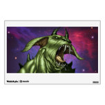 Alien Dog Monster Warrior by Al Rio Wall Decal