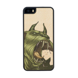 Alien Dog Monster Warrior by Al Rio Wood iPhone SE/5/5s Case