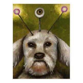 Alien Dog Postcard