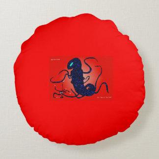 Alien dragon spawn round pillow