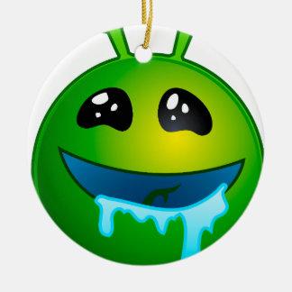 alien drooling ceramic ornament