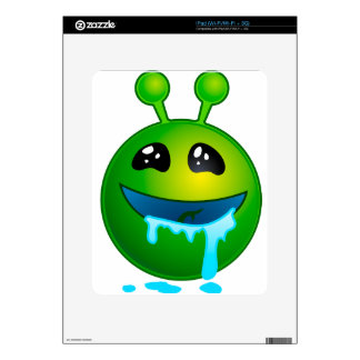 alien drooling decal for iPad