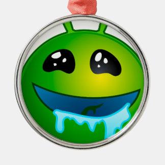alien drooling metal ornament