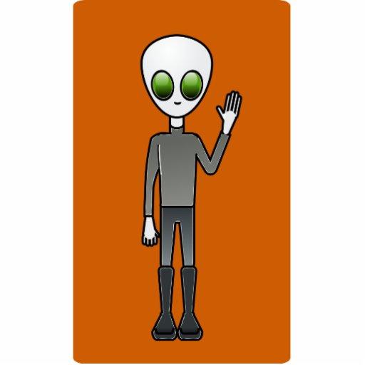 Alien Dude Acrylic Cut Out