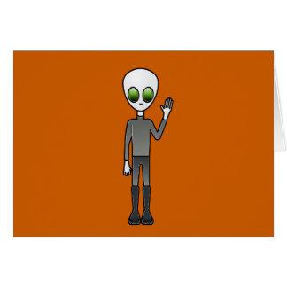 Alien Dude Card