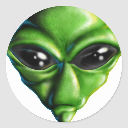 Alien Dude Classic Round Sticker