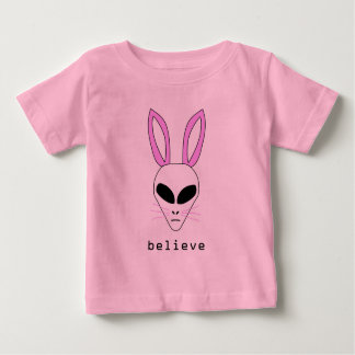 alien easter bunny infant t-shirt
