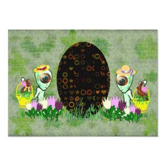 Alien Easter Egg Hunt 5x7 Paper Invitation Card