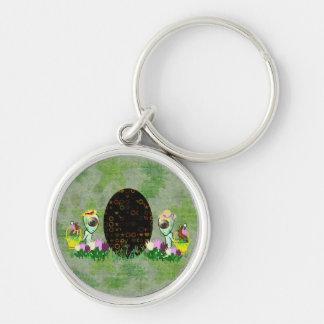 Alien Easter Egg Hunt Keychain
