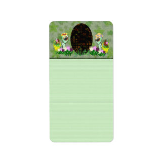 Alien Easter Egg Hunt Address Label