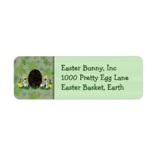 Alien Easter Egg Hunt Return Address Label