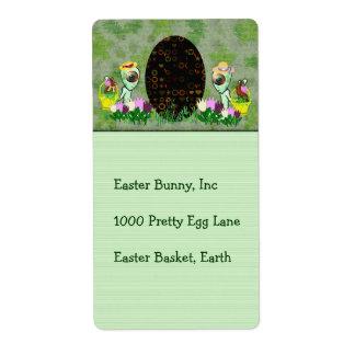 Alien Easter Egg Hunt Shipping Label