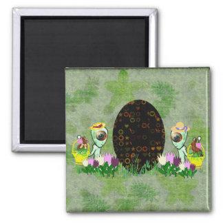 Alien Easter Egg Hunt Magnet