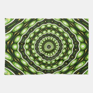 Alien Eggs Vortex Tornado green Hand Towels