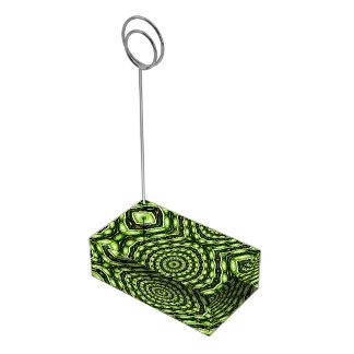 Alien Eggs Vortex Tornado green Place Card Holder