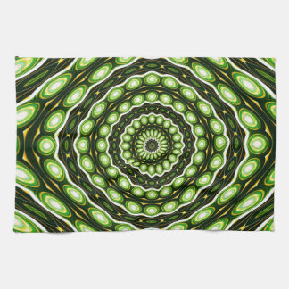 Alien Eggs Vortex Tornado green Towel