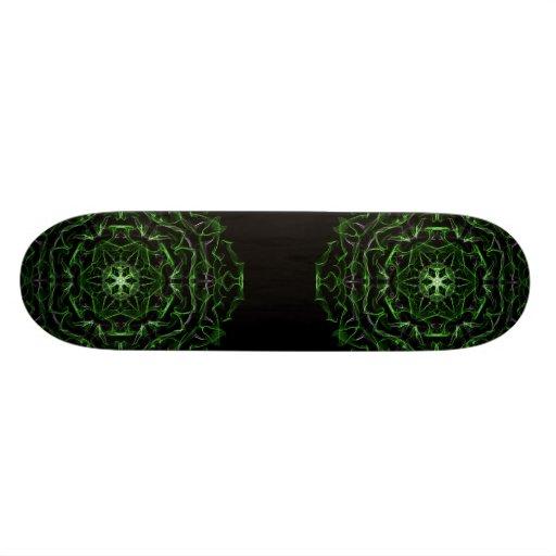 Alien Emerald Graphic Custom Skate Board