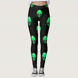 alien emojis leggings