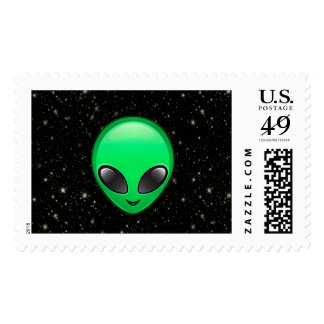 alien emojis postage postal stamps