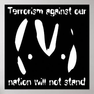 Alien emoticon 9/11 quotes poster