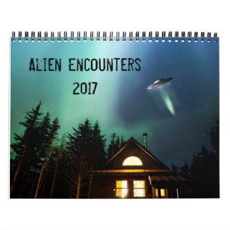 Alien Encounters 2017 Calendar