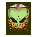 Alien Encounters Postcard