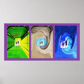 Alien Encounters Triptych Poster