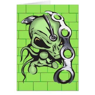 Alien Enslaves Humans Card